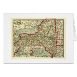 Carte 1888 de ville et de New York de chemin de