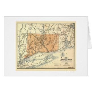 Carte 1893 de chemin de fer du Connecticut