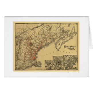 Carte 1898 de chemin de fer de Boston et du Maine