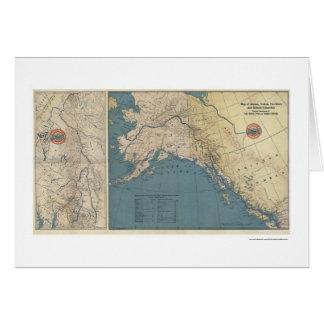 Carte 1904 de l'Alaska de territoire de Yukon