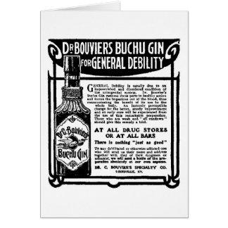 Carte 1905 de publicité de journal de genièvre de