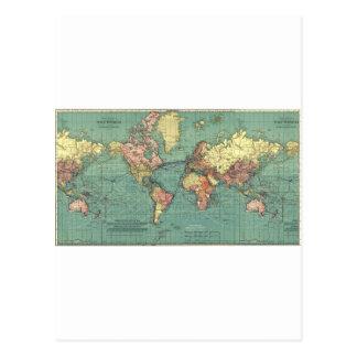 Carte 1919 du monde cartes postales