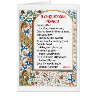 Carte #1 de prière de Noël (Donald Trump)