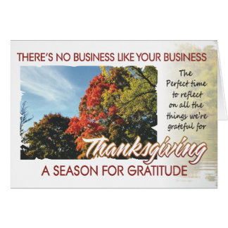 Carte 1 de thanksgiving de client