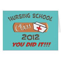 Carte 2012 d'obtention du diplôme d'école d'infirm