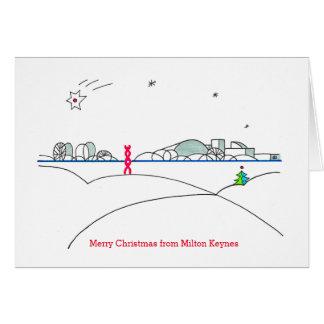 Carte 2015 de Noël de Milton Keynes par Robert