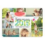 Carte 2015 de vacances de collage de photo de invitations personnalisables