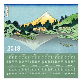 Carte 2018 magnétique de calendrier de Hokusai