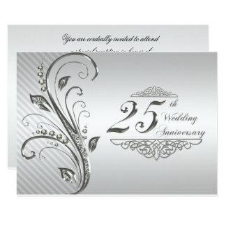 Carte 25ème Anniversaire de mariage RSVP