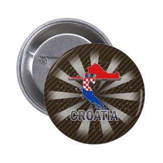 Carte 2,0 de drapeau de la Croatie Badges