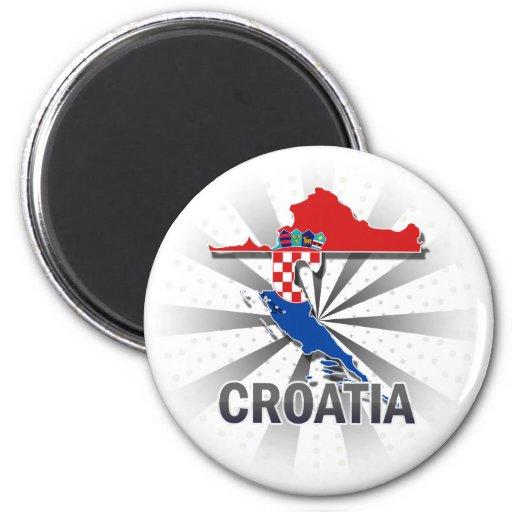 Carte 2,0 de drapeau de la Croatie Aimant Pour Réfrigérateur