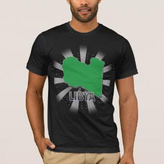 Carte 2,0 de drapeau de la Libye T-shirt