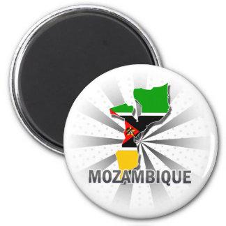 Carte 2,0 de drapeau de la Mozambique Magnet Rond 8 Cm