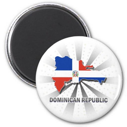 Carte 2,0 de drapeau de la République Dominicaine Aimant Pour Réfrigérateur
