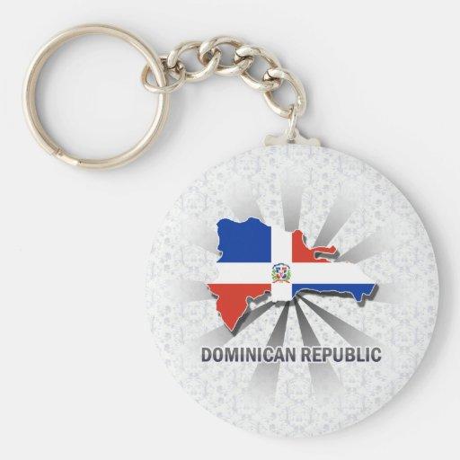 Carte 2,0 de drapeau de la République Dominicaine Porte-clés