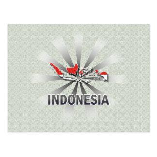 Carte 2,0 de drapeau de l'Indonésie