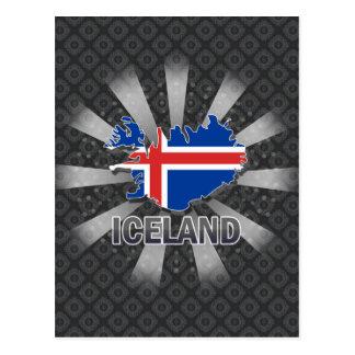 Carte 2,0 de drapeau de l'Islande