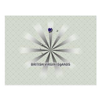 Carte 2,0 de drapeau des Îles Vierges britanniques Carte Postale
