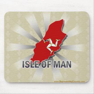Carte 2,0 de drapeau d'île de Man Tapis De Souris