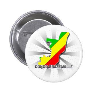 Carte 2,0 de drapeau du Congo Brazzaville Badge