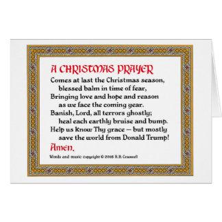 Carte #2 de prière de Noël (Donald Trump)