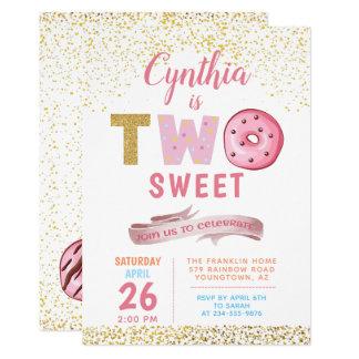 Carte 2ème partie de beignet de bonbon à l'invitation