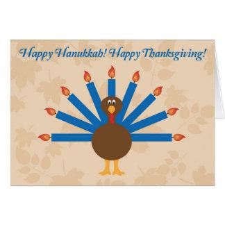 Carte 3 de Hanoukka de thanksgiving