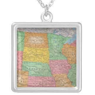Carte 3 des Etats-Unis Pendentif Carré