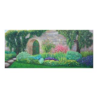 """Carte 4"""" de voie de jardin x 9,25"""" carton d'invitation  10,16 cm x 23,49 cm"""