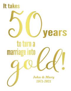Cartes De Vœux 50 Ans Mariage Zazzle Fr