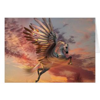 """Carte 5"""" de Pegasus de coucher du soleil x 7"""""""