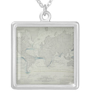 Carte 7 du monde collier