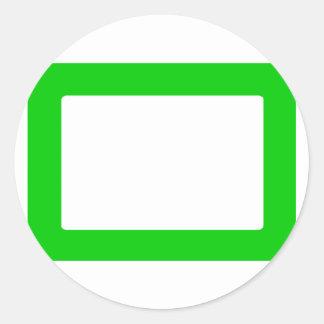carte 7X5 avec le vert intérieur rond de Conors Sticker Rond