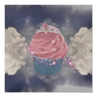 Carte A Cupcake princes invite