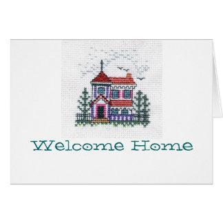 Carte à la maison bienvenue