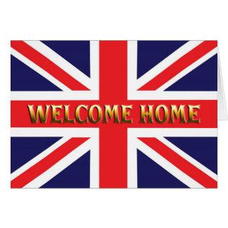 Carte à la maison bienvenue avec Union Jack