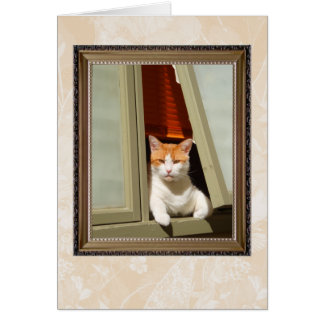 carte à la maison bienvenue de chat