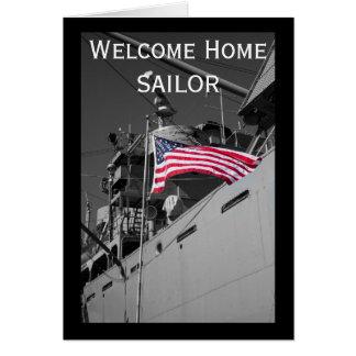 Carte à la maison bienvenue de marin
