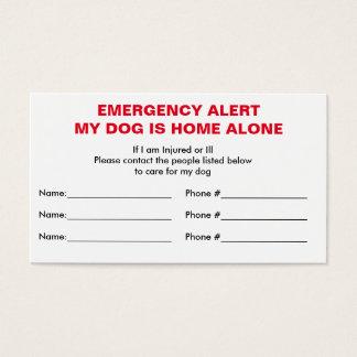 Carte à la maison de contact de secours de chien