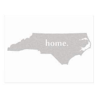 Carte à la maison d'état de silhouette de la cartes postales