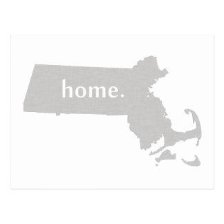 Carte à la maison d'état de silhouette du carte postale