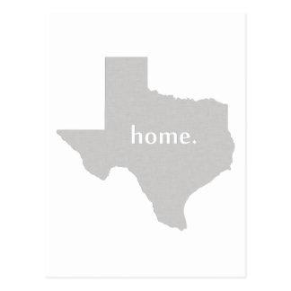 Carte à la maison d'état de silhouette du Texas Carte Postale