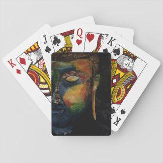 Carte abstraite colorée de peinture de Budha Cartes À Jouer