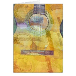 Carte abstraite de guitare acoustique