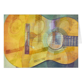 Carte abstraite de guitare acoustique
