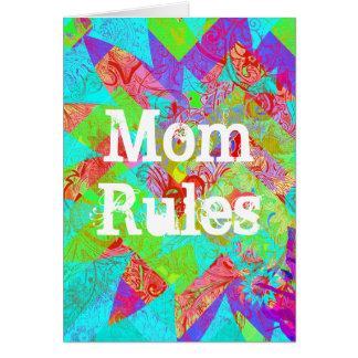 Carte abstraite vibrante de jour de mères de Teal