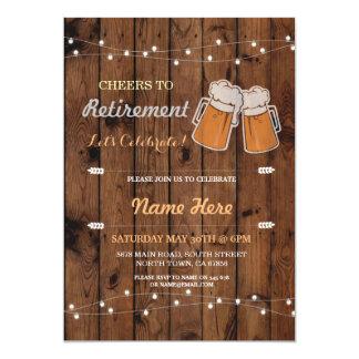Carte Acclamations à l'invitation en bois de bières de
