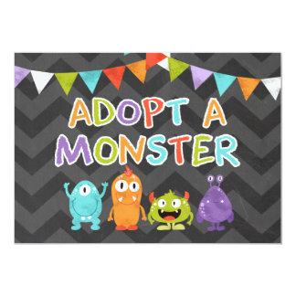 Carte Adoptez un coup de monstre de signe de Tableau