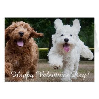 Carte adorable de jour de Valentines des chiots |