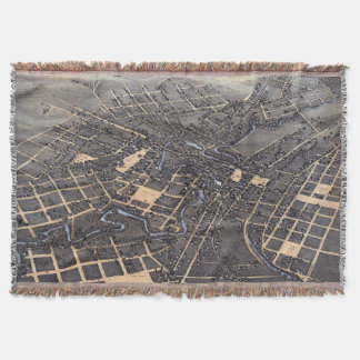 Carte aérienne antique de ville de San Antonio, le Couverture